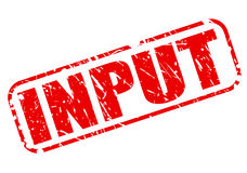 Input red stamp text Royalty Free Stock Photography