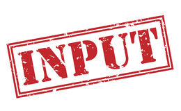 Input red stamp. On white background Royalty Free Stock Photo