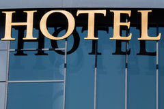 Input signal to a hotel. Input signal to a luxury hotel in downtown Madrid Stock Photography