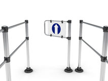 Input turnstile Royalty Free Stock Photography