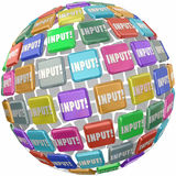 Input Word Tile Feedback Comments Information Reviews Ideas Royalty Free Stock Photo