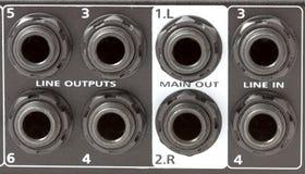 inputs выходы смесителя Стоковое Изображение RF