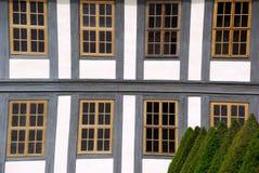Inquadramento del legname della finestra Fotografie Stock