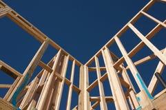 Inquadramento della casa della costruzione. Immagini Stock