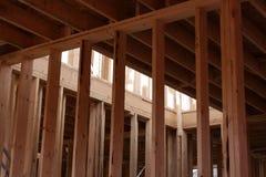 Inquadramento della casa nuova Fotografie Stock Libere da Diritti
