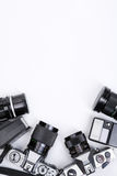 Inquadramento della strumentazione di Photojournalism fotografia stock