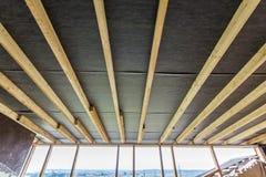 Inquadramento domestico nuovo dell'edilizia residenziale Inquadratura interna della a Immagine Stock Libera da Diritti
