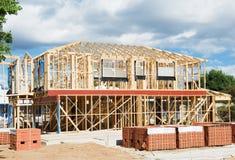 Inquadramento domestico nuovo della costruzione Immagine Stock Libera da Diritti