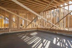 Inquadramento interno della nuova casa Immagine Stock Libera da Diritti