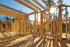 Inquadramento interno di una casa nuova Immagine Stock