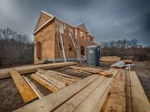 Inquadratura della costruzione della nuova casa Fotografia Stock