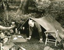 Inquiétude de camping photographie stock libre de droits