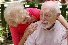 Inquietação com o marido Foto de Stock Royalty Free