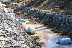 Inquinamento ambientale Inquinamento ecologico Problema di ecologia fotografia stock