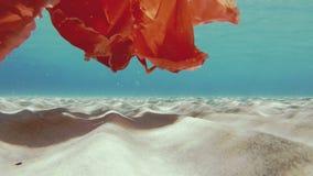 Inquinamento ambientale nel mare attraverso detriti di plastica video d archivio