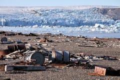 Inquinamento artico della costa fotografia stock libera da diritti