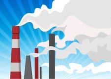 Inquinamento atmosferico Immagini Stock