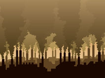 Inquinamento atmosferico illustrazione vettoriale
