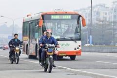 Inquinamento atmosferico in Canton, Cina Immagini Stock Libere da Diritti