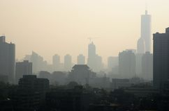 Inquinamento atmosferico in Cina Immagini Stock Libere da Diritti