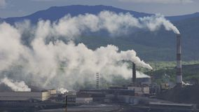 Inquinamento atmosferico dagli impianti industriali archivi video