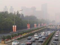 Inquinamento atmosferico di Pechino fotografie stock