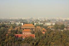 Inquinamento atmosferico di Pechino Immagini Stock