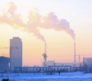 Inquinamento atmosferico di Pechino Fotografie Stock Libere da Diritti