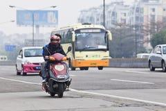 Inquinamento atmosferico nel centro di Canton, Cina Fotografia Stock Libera da Diritti