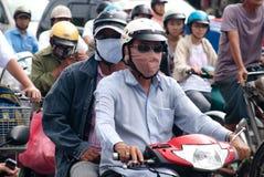 Inquinamento atmosferico in Saigon Fotografia Stock Libera da Diritti