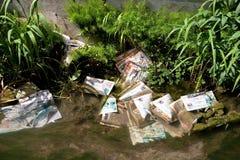 Inquinamento dei rifiuti Immagini Stock Libere da Diritti