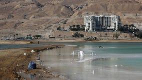 Inquinamento del mar Morto, Ein Bokek, Israele Fotografia Stock Libera da Diritti