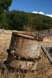 Inquinamento del serbatoio dell'olio Fotografia Stock
