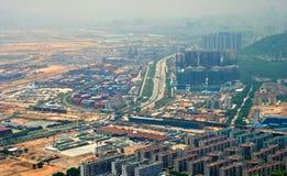 Inquinamento della città Fotografie Stock