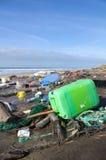 Inquinamento della spiaggia Immagine Stock