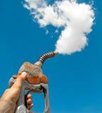 Inquinamento di riscaldamento globale da benzina Immagini Stock Libere da Diritti