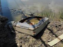 Inquinamento elettronico - la preoccupazione ambientale imminente immagine stock libera da diritti