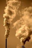 Inquinamento nell'aria immagine stock