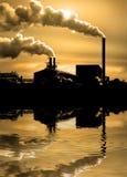 Inquinamento nell'aria fotografia stock