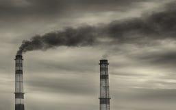 Inquinamento nella baia Fotografie Stock Libere da Diritti