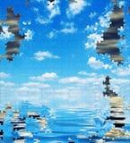 Inquinamento, puzzle, concetto ambientale, Fotografia Stock Libera da Diritti
