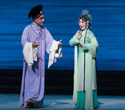 """Inquire about the lover's news-Kunqu Opera""""Madame White Snake"""". Legend of the White Snake is one of the most famous tales spreading out amongfolks in Stock Photography"""