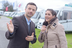 Inquiry about camper van. Inquiry about the camper van Royalty Free Stock Images