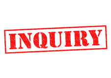 INQUIRY. Red Rubber Stamp over a white background Royalty Free Stock Image