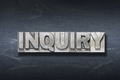Inquiry word den Royalty Free Stock Images