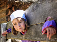 Inquisition. Little girl. Stock Images