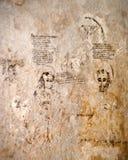 Inquisition.graffiti的土牢 免版税库存图片