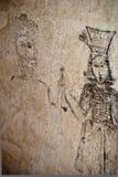 Inquisition.graffiti的土牢 免版税库存照片
