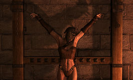 Inquisition woman in chains Stock Images