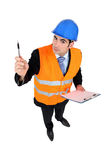 An inquisitive civil engineer Royalty Free Stock Photography